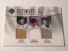 Satchel Page/ Bob Feller/ Varitek +3 2009 Ultimate 6-Jersey #/50 Indians/Red Sox