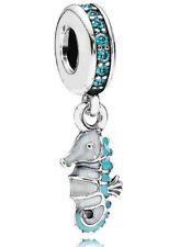 Genuine Pandora Sterling Silver Pandora Tropical Seahorse Charm - 791311MCZ