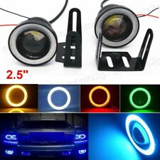 "2pcs 2.5"" COB LED Car Projector Lens Angel Eye Ring Halo Drive Fog Light Lamps"
