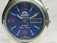 Vintage Orient Day/Date Mens Analog Dial Mechanical Automatic Wrist Watch WG216