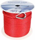 38 Inch 150ft Premium Solid Braid Mfp Anchor Line Braided Anchor Ropeline Red
