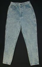 Vintage Chic Acid Washed High Waist Jeans 9 Tall Mom Made in USA c03