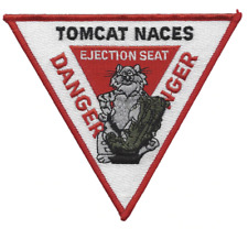 """5"""" NAVY TOMCAT NACES EJECTION SEAT DANGER EMBROIDERED PATCH"""