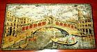 Vtg 60's Venice Velvet Prayer Small  Rug Italy Canals Gondola 20x37 Wall hanging