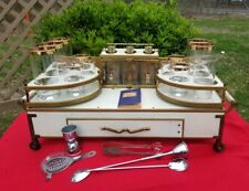 Vintage Midcentury Italian Regency Portable Tabletop Bar Caddy for Tlc