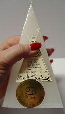ZODIAC PYRAMID CANDLE - CANCER WITH CRYSTALS 15hrs Wicca Witch Pagan ASTROLOGY