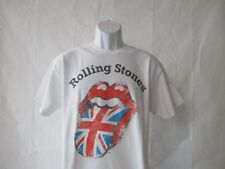 Rolling Stones Distressed Union Jack T-Shirt - White Adult Sizes L - XL NEW