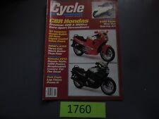 NOVEMBER 1986 CYCLE MAGAZINE HONDA CBR 600F, 1000F, E-TAC CYCLE, BMW K75S