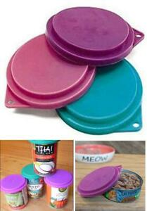 Pet Food Can Covers Assorted Colors 3-1/2 Inches Dogs Cats Pets Lids Reusable
