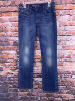 Express Rerock Re Rock Boot Cut Fleur Low Rise Womens Denim Jeans size 8