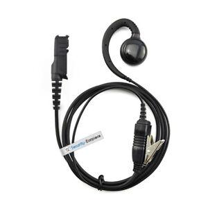 C Shape Swivel In-line PTT Earpiece For MOTOROLA MOTOTRBO DP2400 DP2600
