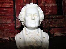 Antique Cross swords German Meissen Germany PARIAN Beethoven Bust Statue #ered