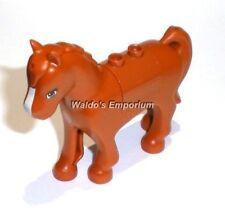 Lego Friends MiniFigure Animal, Dark Orange Pony, Horse, 3185, New