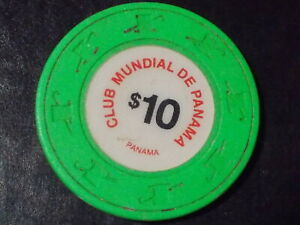 CLUB MUNDIAL DE PANAMA CASINO $10 hotel casino poker gaming chip ~ PANAMA