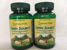 2 Bottles Puritan's Pride Green Source® Multivitamin & Minerals Made In USA