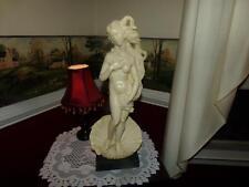 """A. Santini Vintage Sculpture sea nymph RARE VENUS  Alabaster """" Botticelli"""" NUDE"""