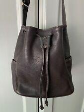 Coach 4926 Vintage Sonoma Brown Pebble Leather Drawstring Cross Body Bucket Bag