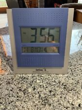 SkyScan Digital Atomic Clock. Blue/Silver. Excellent Condition.