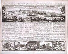 Antique map, Vue & description de la ville de Jerusalem