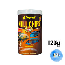 TROPICAL Krill Chips 125g Carnivores Freshwater Saltwater Marine Fish Food