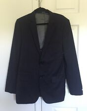 New Express Mens Fitted Navy Suit Jacket Size 40L