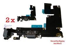 "USB Charging Port Dock Mic Headphone Flex Cable iPhone 6 PLUS 5.5"" (Gray) Lot 2"