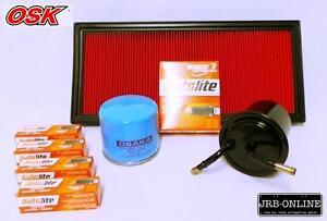For SUBARU Forester Impreza OIL AIR FUEL Filter Service Kit Spark Plug 98-2007