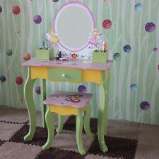 CHILDREN FURNITURE KIDS GIRLS VANITY BUTTERFLY FAIRY DRESSING TABLE & STOOL 95
