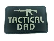 Tactical Dad Grey PVC Airsoft Paintball Morale Patch