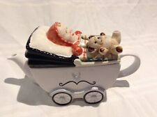PRICE KENSINGTON COLLECTABLE NOVELTY LGE TEAPOT BABY,TEDDY PRAM GREAT CONDITION