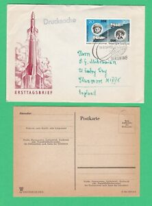 DDR East Germany FDC 1963 Space - Vostok V and VI First Day Cover Postal History