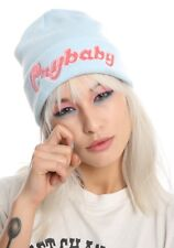 Melanie Martinez Cry Baby Beanie Light Blue & Pink Watchman Knit Hat NWT!
