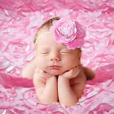 Prop Baby Newborn 3D Rose Flower Photography Photo Backdrop Blanket Rug New