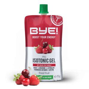 BYE! Pro Isotonic Gel 70gr - Rote Frucht (Schachtel mit 12 Stück)