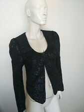 MAISON SCOTCH women's blazer black&blue size 3(L)