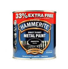 Hammerite 5158235 1L Metal Paint Smooth Black