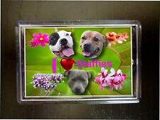 Staffordshire Bull Terrier Dog Fridge Magnet 77 x 51mm Staffies Birthday Gift