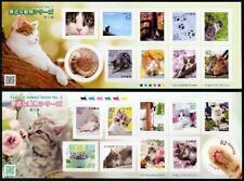JAPAN Familiar Animals Series Stamps Part 5, Sheetlets of 10 Different (2/Set)