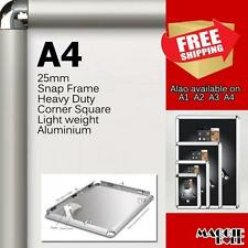 A4 PREMIUM Snap in poster frame poster Sign holder wall mount 25MM aluminum