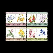 NANUMAGA-TUVALU, Sc #33-36a-b, MNH, 1985, Flowers, Flora, plants, 1RDD