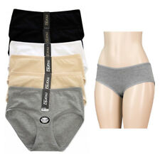 6 Pack Women Underwear Briefs Panties Bikini Full Coverage Cotton Spandex XLarge