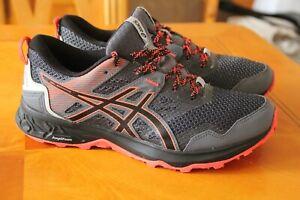 Asics Gel Sonoma Running Trainers  Black & Orange details size 6.5 uk usa 8.5 w