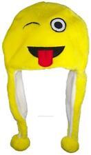 Best Winter Hats Plush Emoji Beanie W/Fleece Lining #752 Wink & Tongue