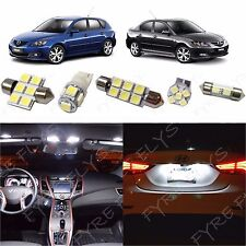 7x White LED lights interior package kit for 2004-2009 Mazda 3 MT2W