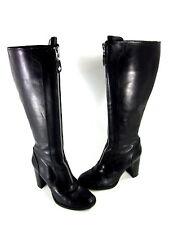 FIFI & ELVIS WOMEN'S GRANDOISE KNEE-HIGH FASHION BOOTS BLACK LEATHER US SIZE 7 M