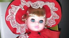 "VINTAGE FURGA DOLL 15"" w/ BOX, STAND, CLOTHING BLOND HAIR,BLUE EYES"