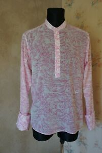 Men's exclusive HOMECORE patterned shirt XL top casual polo double cuffs France