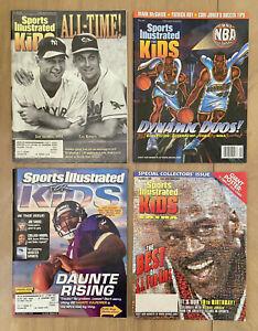 1995 to 2001 SPORTS ILLUSTRATED FOR KIDS CARD MAGAZINE LOT - RIPKEN JORDAN