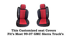 New Black/Red Mesh Custom seat covers Fit's 1999~2007 GMC Sierra Classic Truck's