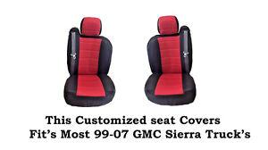 New Black/Red Mesh Custom seat covers Fit's 1999~2007 GMC Sierra Classic Truck's